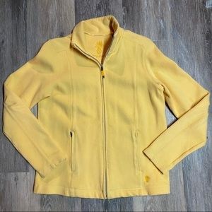 Tommy Bahama Zip-Up Yellow Sweater